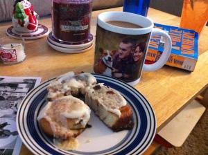 yummy! coffee in my new gigantic mug!