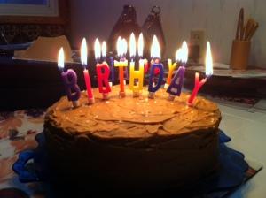 Dark chocolate cake with salted caramel buttervream frosting