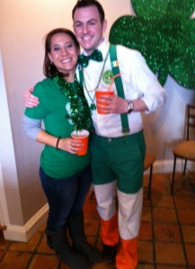 Me and our friend who takes St. Patty's very seriously :)
