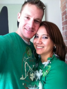 Me and P decked out in our green flair!