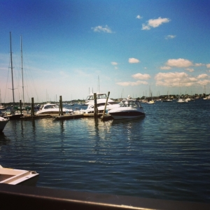 pretty harbor and boats